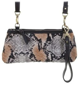 Punchy's Natural Python Little Clutch Bag