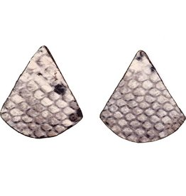 Punchy's Vestige Triangle Cobra Lux Leather Stud Earrings