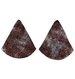 Punchy's Vestige Triangle Stud Earrings in Metallic Chocolate