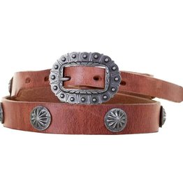 Punchy's Harness Leather Concho Belt