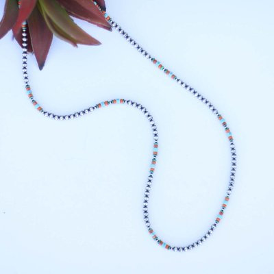 Punchy's 30in Spiny Turquoise Navajo Pearl Necklace