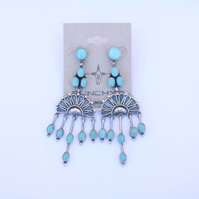 Punchy's Crescent Sun Turquoise Chandelier