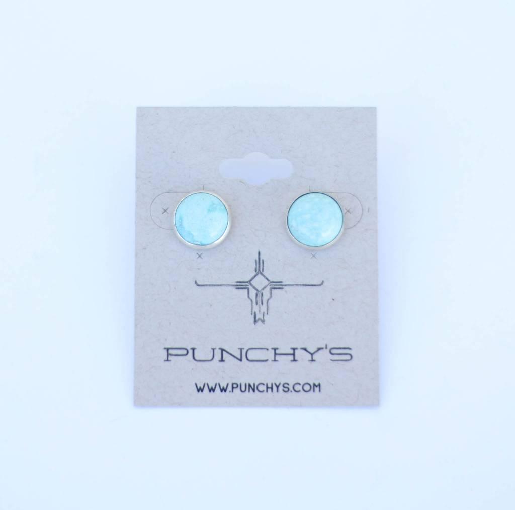 Punchy's Large Turquoise Stud