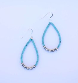Punchy's Turquoise & Navajo Pearl Teardrop