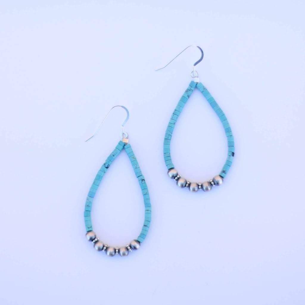 Punchy's Turquoise & Navajo Pearl Teardrop