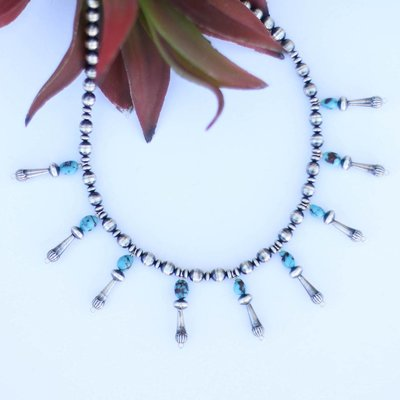 Punchy's Turquoise Mini Multi Blossom Necklace