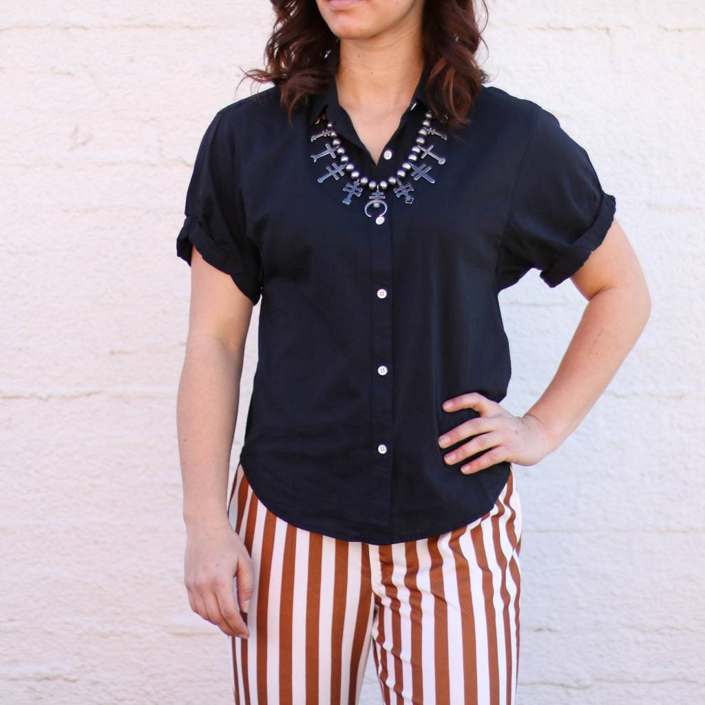 Punchy's Rolled Cuff Short Sleeve Button Down