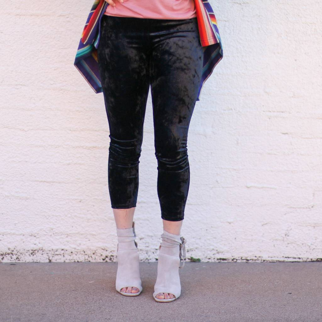 Punchy's Black Velvet Leggings