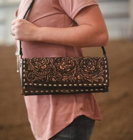 Punchy's Western Clutch with Rose Tooling on Flap