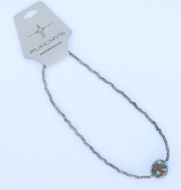Punchy's Pyrite and Turquoise Choker Necklace
