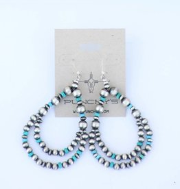Punchy's The Turquoise Silver City Teardrop Earring