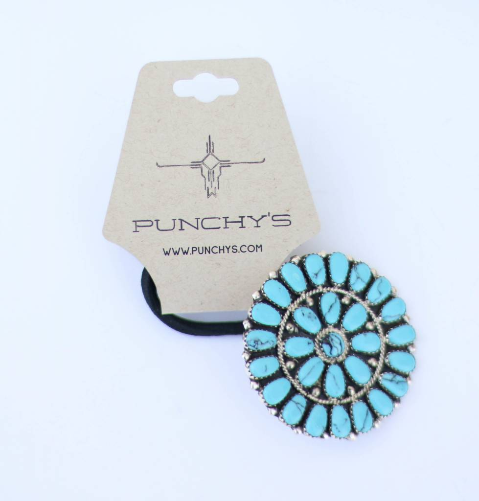 Punchy's Turquoise Cluster Hair Tie