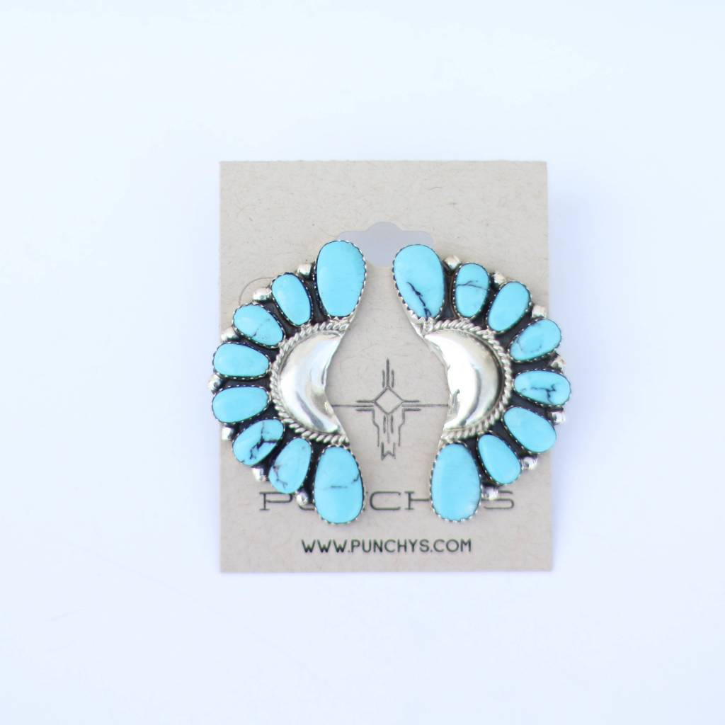 Punchy's Turquoise Crescent Earring