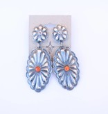 Punchy's Spiny Round Oval Concho Earring