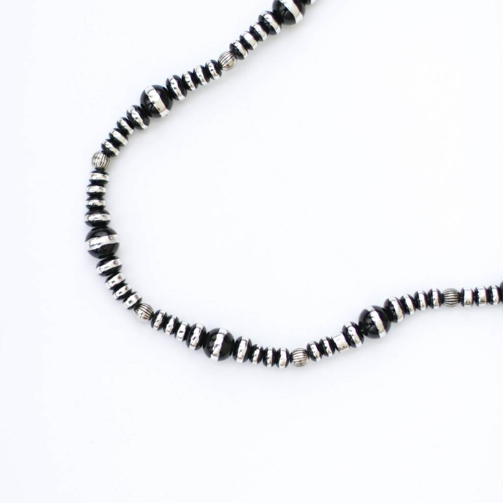 "Punchy's 34"" Round Faux Oxi Alternating Size Necklace"