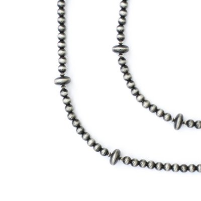 "Punchy's 66"" Faux Smoke Pearl Beaded Necklace"