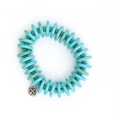 Punchy's Turquoise Disc Stretch Bracelet