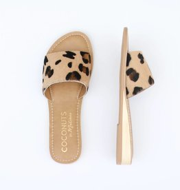 Punchy's Mini Wedge Leopard Cowhide Slip on