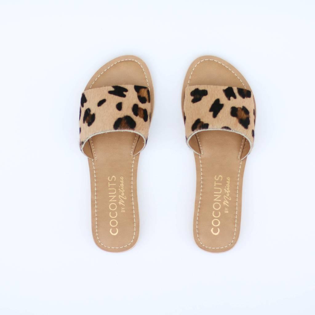 Punchy's Mini Wedge Leopard Cowhide Slip on