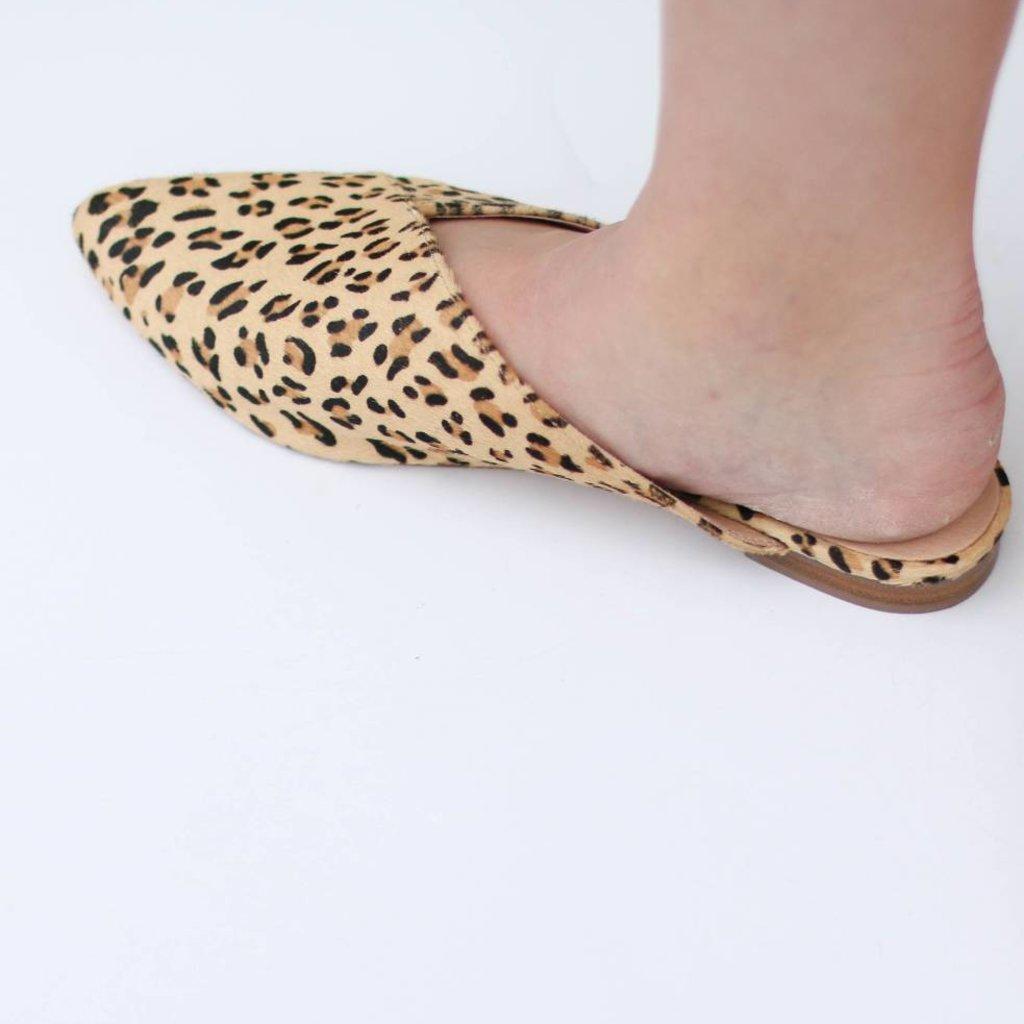 Punchy's Leopard Cowhide Asymmetrical Mule