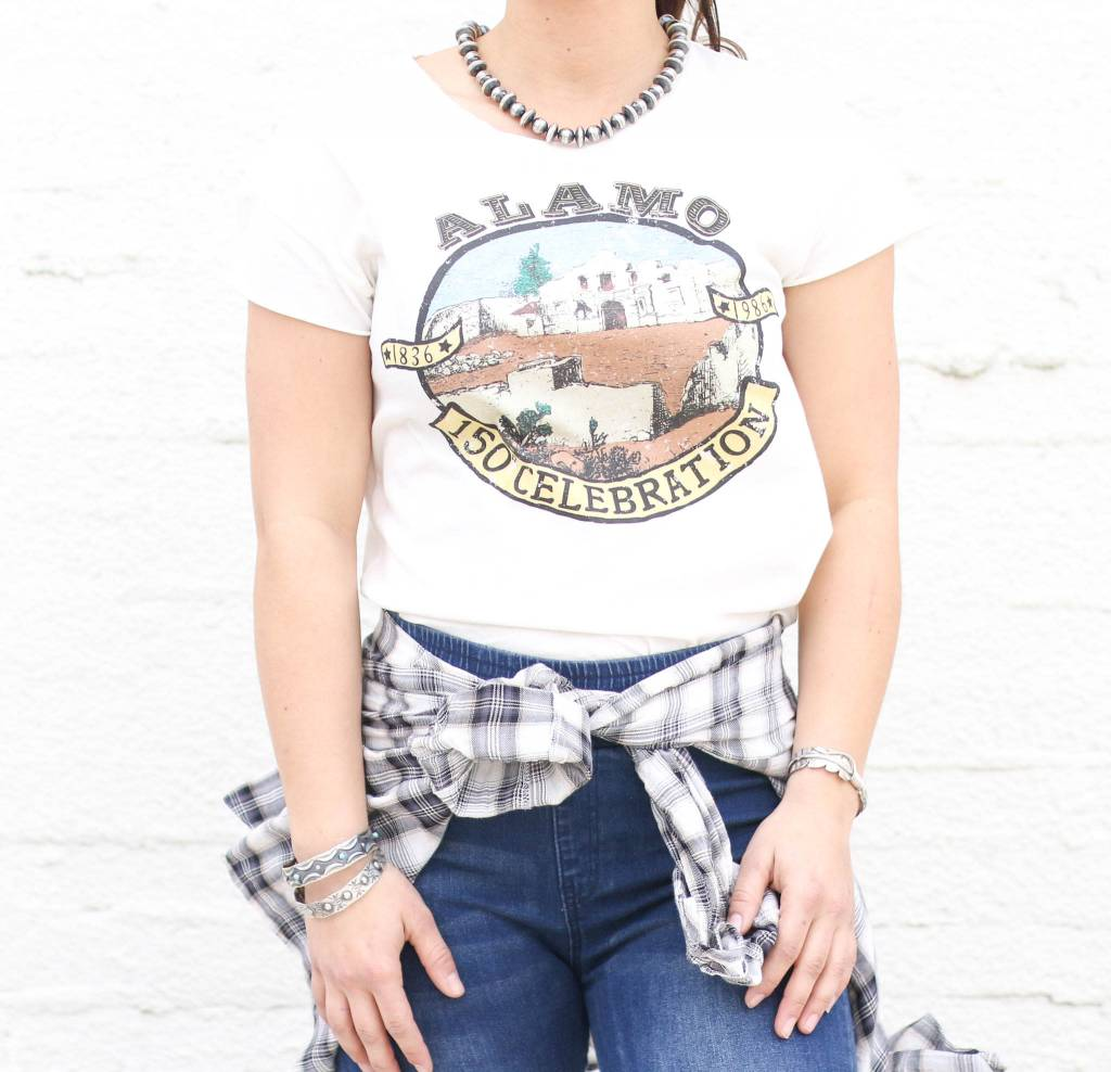 Punchy's Distressed Alamo Tee