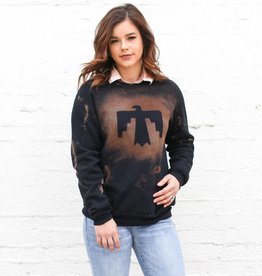 Punchy's Black Acid-Wash Thunderbird Sweatshirt