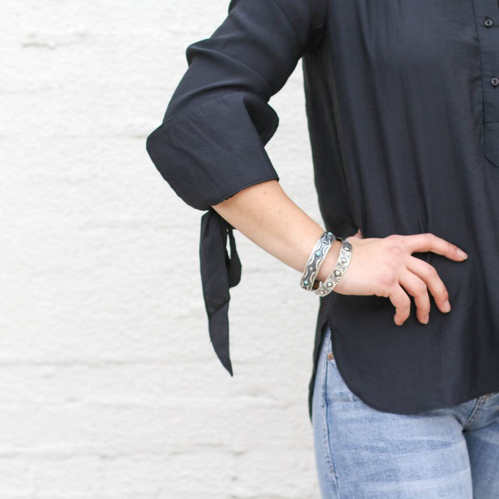 Punchy's Black Bell Me Up Blouse