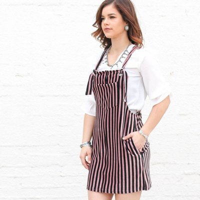 Punchy's Corduroy Striped Woven Dress