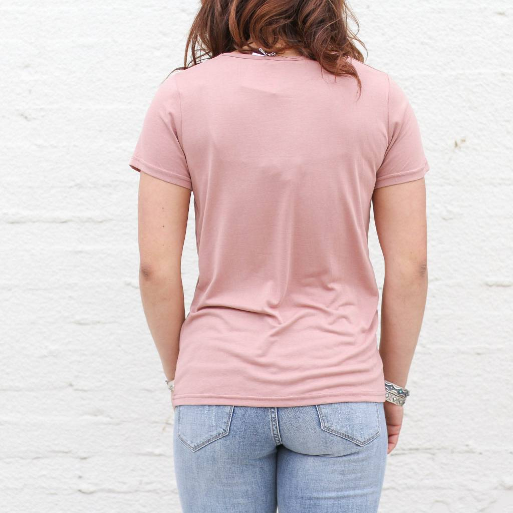Punchy's Pink Swoop Neck Basic