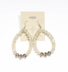 Punchy's Brown and Tan Sparkle Teardrop Earring