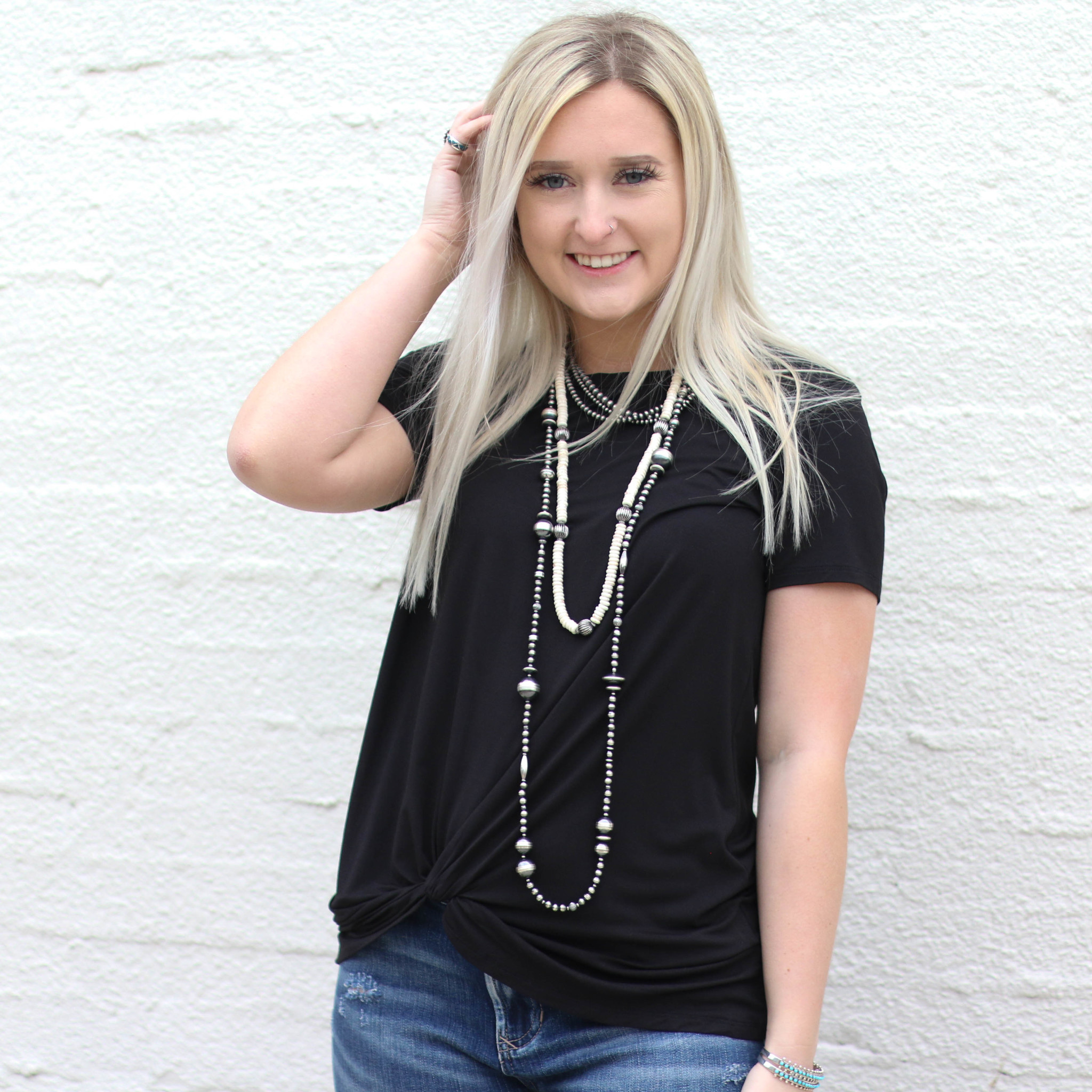Punchy's Black Knotted Basic Tee