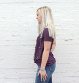 Punchy's Plum Knotted Basic Tee