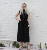 Punchy's Black Off the Shoulder Jumpsuit