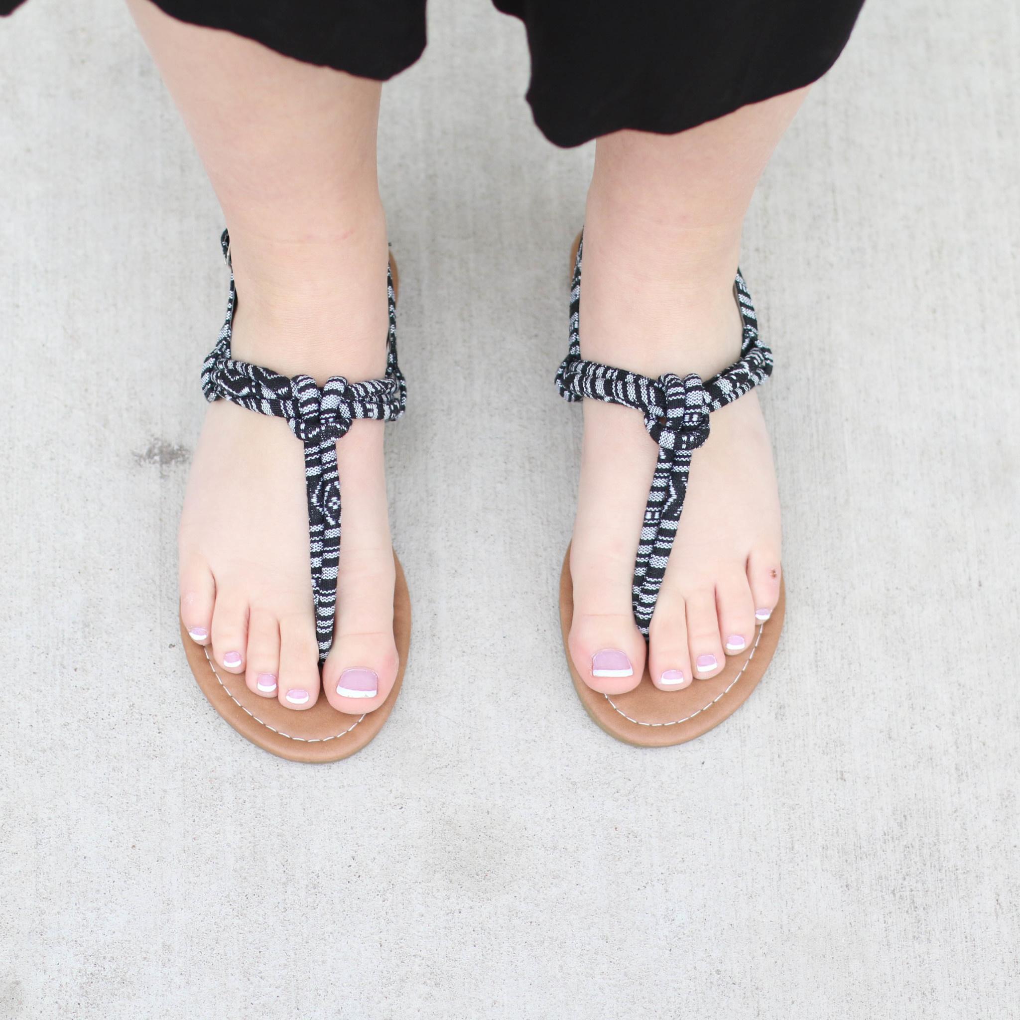 Punchy's Black Tribal Wandering Sandal
