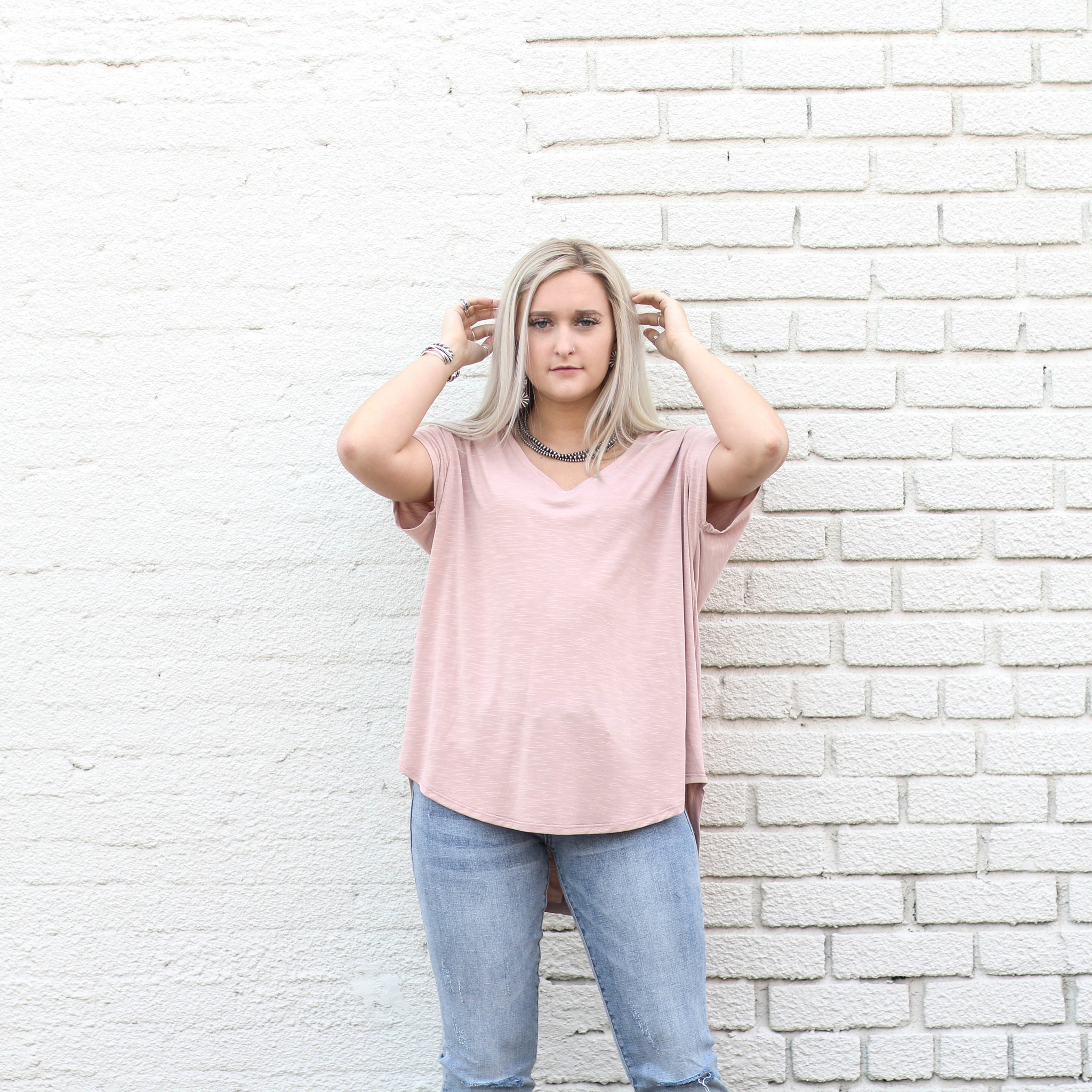 Punchy's Blush Drop Shoulder Top