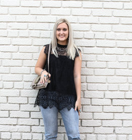 Punchy's Black Lace Blouse