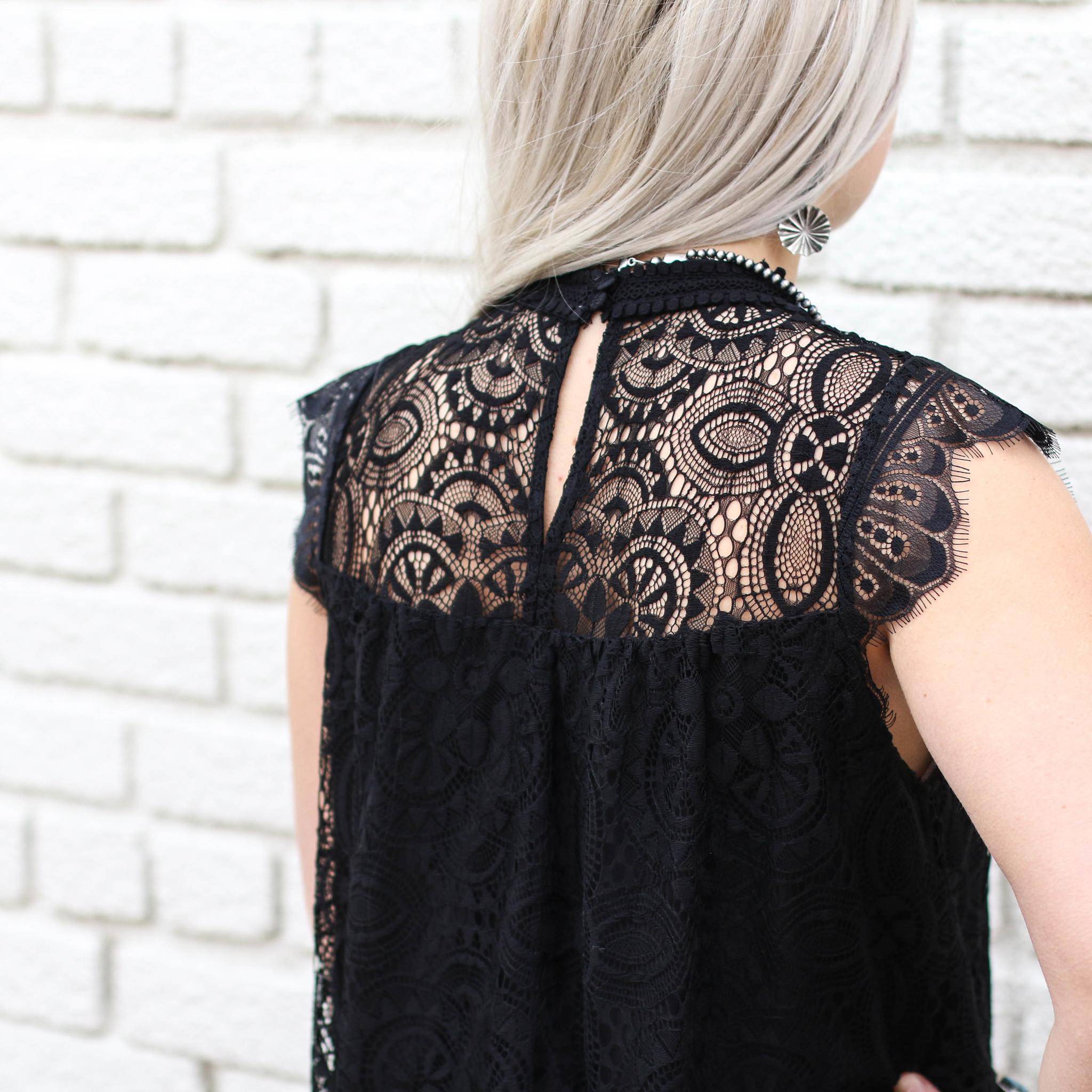 Punchy's Black Lace Blouse