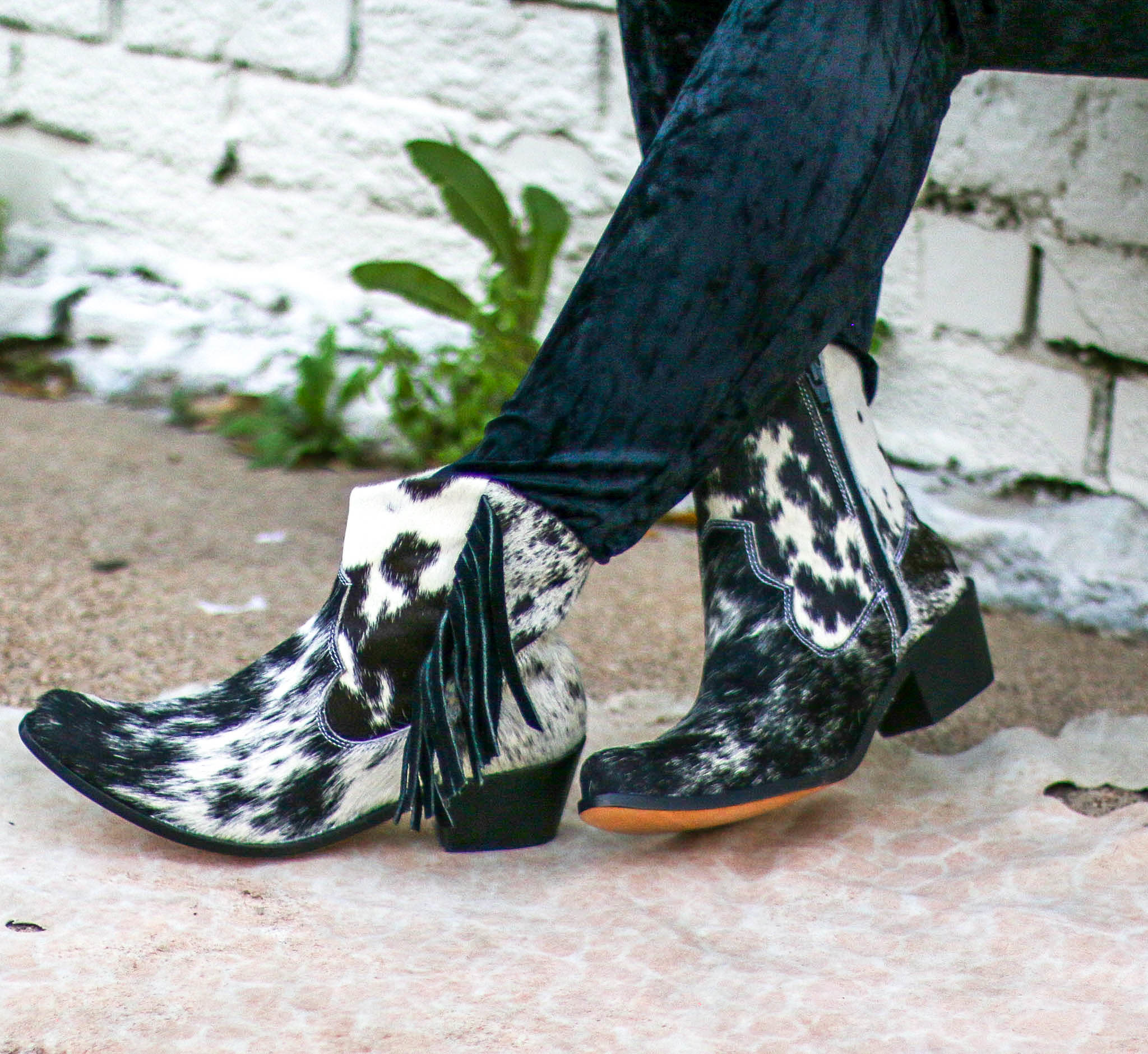 Punchy's Cowhide Ankle Boot