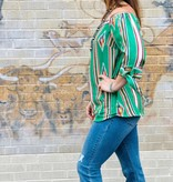 Punchy's Tribal Off the Shoulder Top