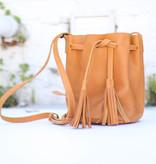 Punchy's Cognac Lydia Bucket Bag
