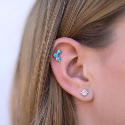 Punchy's Petite Turquoise Ear Cuff