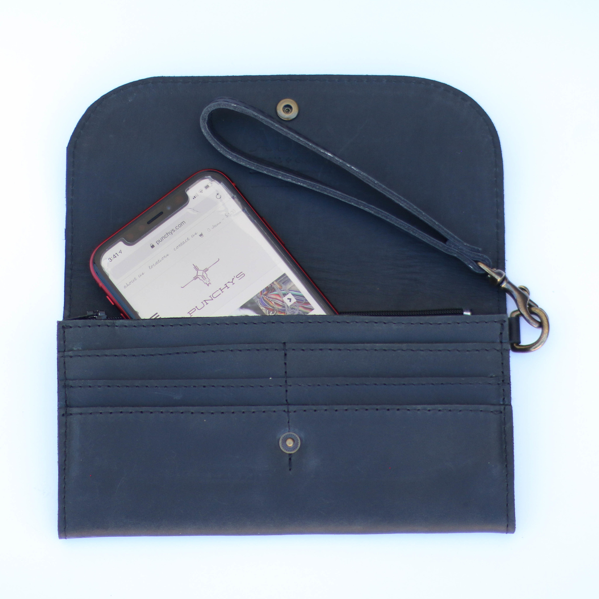 Punchy's Mare Phone Wallet in Black