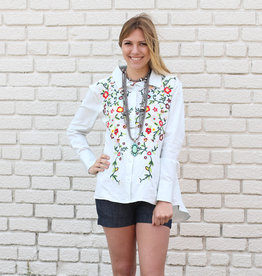 Punchy's Blue Embroidered Button Down