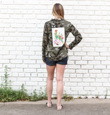 Punchy's Camo Button Down with Cactus Patch
