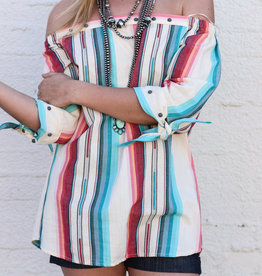 Punchy's Navajo White Off-Shoulder Top