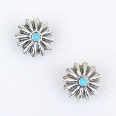 Punchy's Concho Stud with Turquoise