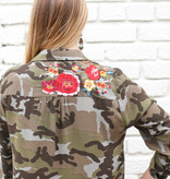 Punchy's The Knox Camo Embroidered Blouse