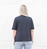 Punchy's Black Side Tie Woven Top