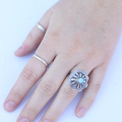 Punchy's Turquoise Burst Ring