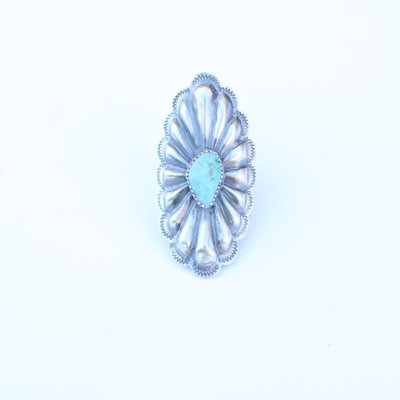 Punchy's Turquoise Oval Concho Ring